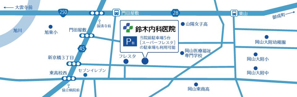 鈴木内科医院周辺マップ